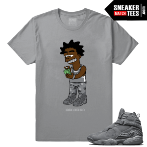 Jordan 8 Cool Grey shirt matching Jordan Retros