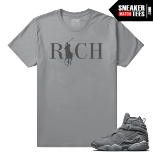 Jordan 8 Country Club Rich Cool Grey Shirt