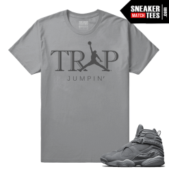 Jordan 8 Sneaker tees match Cool Grey 8s