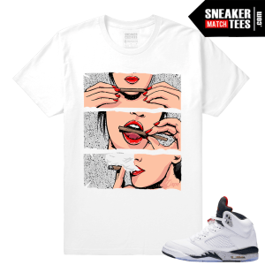 Jordans Retro 5 Cement shirt