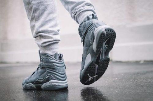 Jordans on Feet Cool Grey 8s