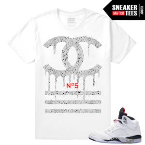 Retro 5 Cement tee shirt