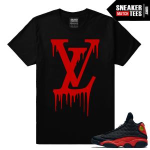 Streetwear t shirt Match Jordan 13 Bred