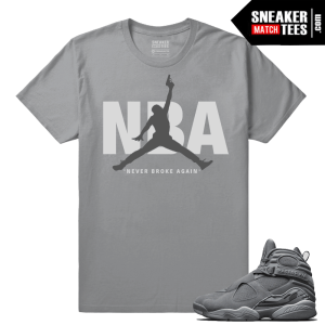 Young Boy NBA Cool Grey Jordans T shirt