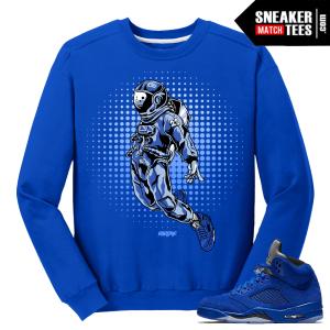 Air Jordan 5 Blue Suede Matching Sweater