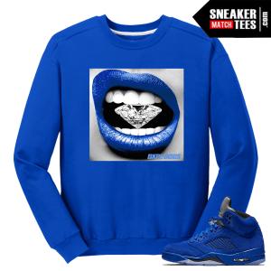 Air Jordan 5 Blue Suede Sweater Streetwear
