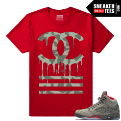 Air Jordan 5 Camo Sneaker tees Matching