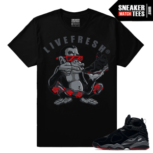 Air Jordan Retro 8 Live Fresh Ape T shirt