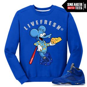 Blue Suede 5 Crewneck Sweater