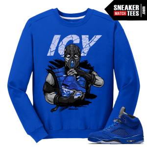 Blue Suede 5s Crewneck Sweatshirt