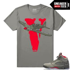 Camo 5s sneaker matching shirts