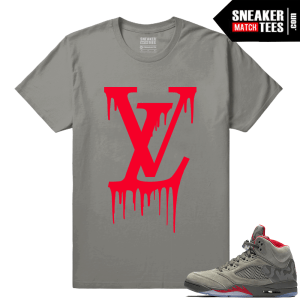 Camo Jordan 5 Sneaker tees shirts