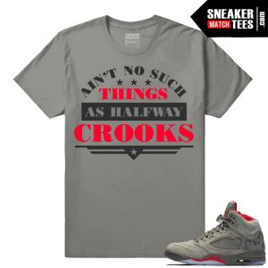 Camo shirts match Jordan 5s