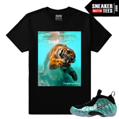 Foamposites Island Green Sneaker tee to match