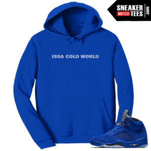 Jordan 5 Blue Suede Hoodies