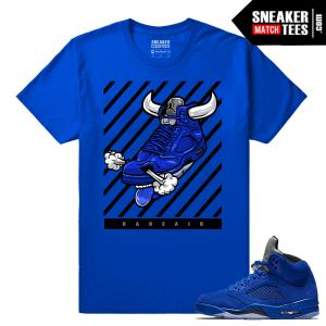 Jordan 5 Blue Suede Shirt