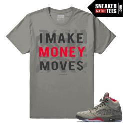 Jordan 5 Camo Make Money Moves Streetwear