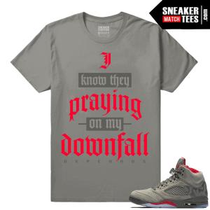 Jordan 5 Sneaker Match Camo Tees