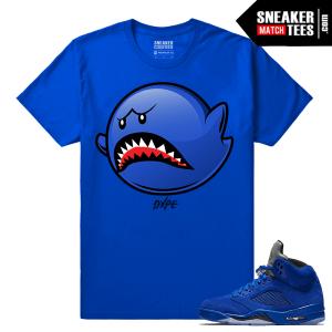 Jordan 5 Sneaker shirt Blue Suede