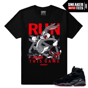 Jordan 8 Bred Run This Game T shirt