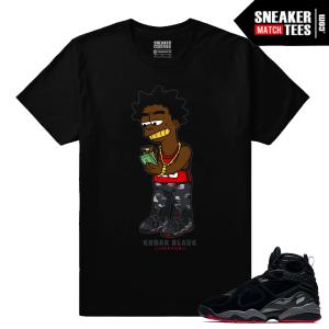 Kodak Black T shirt Jordan 8 Bred