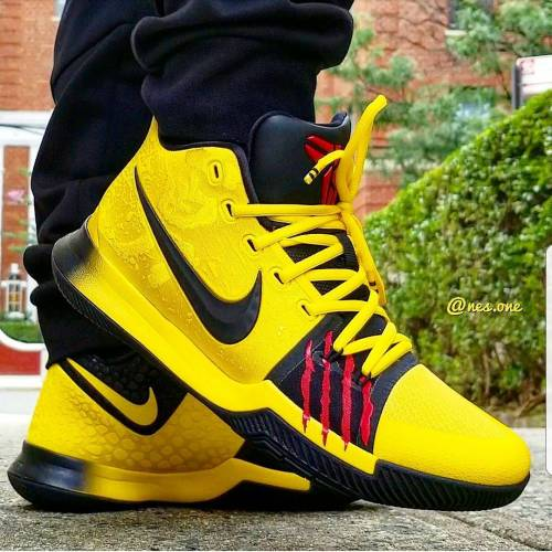 Kyrie 3 Mamba Mentality on Feet look