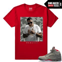 Nas Hip hop t shirt Jordan 5 Camo