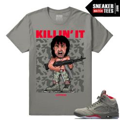 Shirt to Wear with Camo Jordans 5