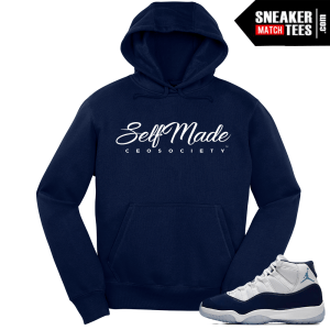 Jordan 11 Win Like 82 Hoodie Navy Self Made