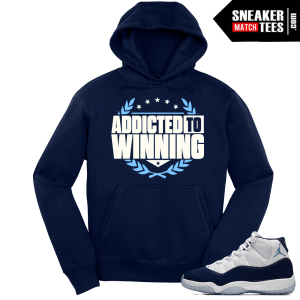 Jordan 11 Win Like 82 Navy Hoodie Addicted