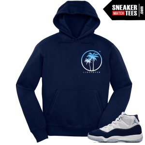 Jordan 11 Midnight Navy Hoodie Live Fresh Palm