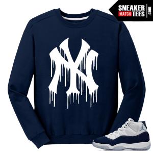 Jordan 11 Win Like 82 Navy Sweater NY Drip