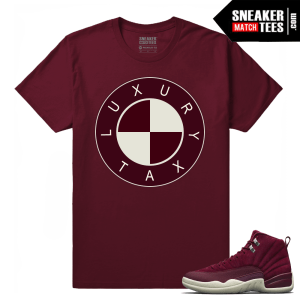 Jordan 12 Bordeaux Sneaker Match Tees