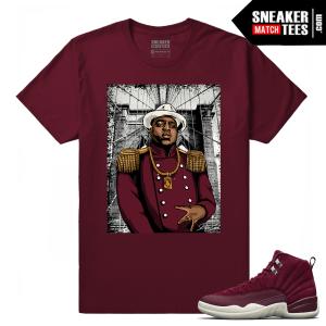 Jordan 12 Bordeaux Sneaker tee Shirt