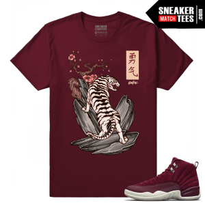 Jordan 12 Matching Bordeaux Sneaker tees