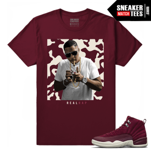 Jordan 12 matching bordeaux t shirt