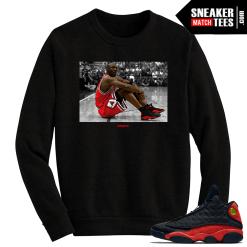 Jordan 13 Bred MJ in the 13s Black Crewneck Sweater