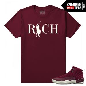 Retro Jordan 12 Bordeaux Sneaker tees