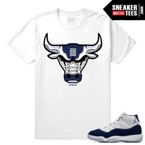 Jordan 11 Midnight Navy 11 T shirt Rare Air Bull