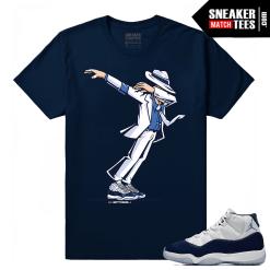 Jordan 11 Midnight Navy Sneaker tees Dabbin MJ