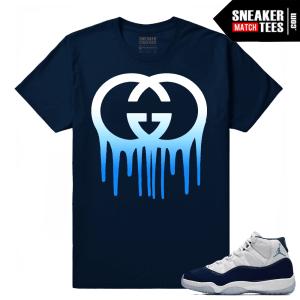Jordan 11 Midnight Navy Sneaker tees Gucci Drip