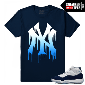 Jordan 11 Midnight Navy Sneaker tees NY Drip