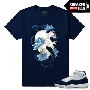 Jordan 11 Midnight Navy Sneaker tees Serpent Skull