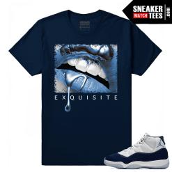 Jordan 11 Midnight Navy T shirt Exquisite Lips