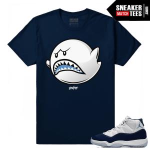 Jordan 11 Navy Sneaker tees Boo Shark