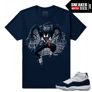 Jordan 11 Navy T shirt Venom