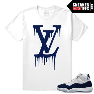 Jordan 11 Sneaker tees Win Like 82 White T shirt LV Drip
