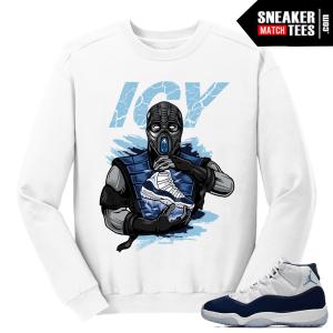 Jordan 11 Win Like 82 White Sweater Subzero Icy Sole