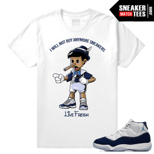Jordan 11 Win like 82 white t shirt live fresh Pinocchio