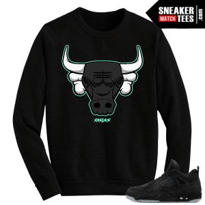 Kaws Jordan 4 Black Crewneck Kaws Rare Bull
